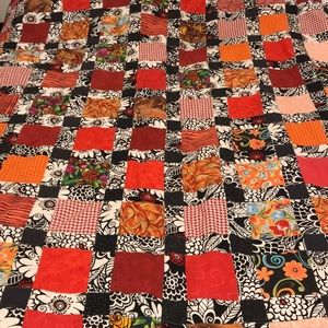 Fall colors patchwork quilt